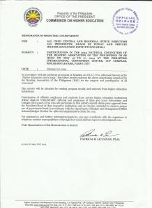 2014 CHED Memorandum